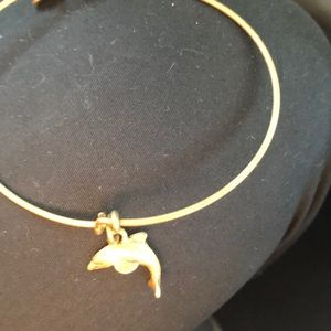 Alex and Ani Dolphin Gold Bracelet